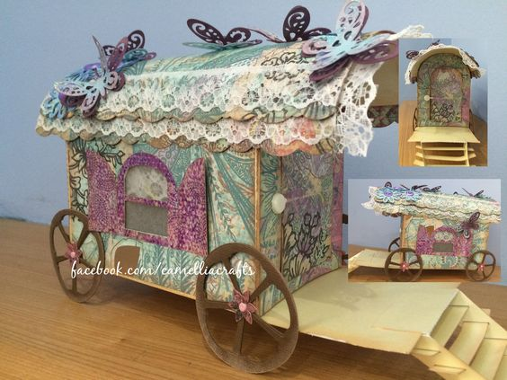 gypsycaravan made with card and paper