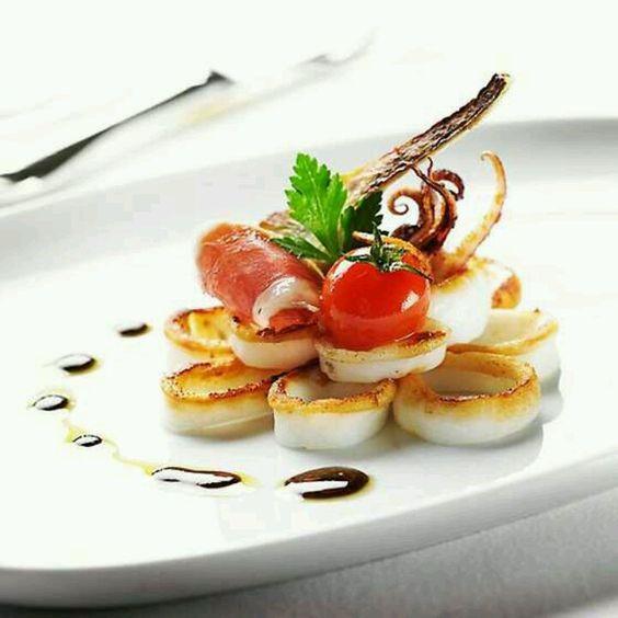 Calamari by Star Michelin chef Michel Portos, Indonesia Lyon #plating #presentation