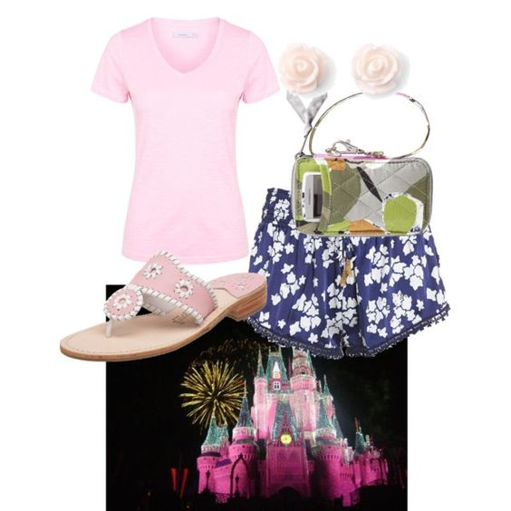 Disney by margaretinmotion on Polyvore featuring polyvore, fashion, style, John Lewis, Jack Rogers, Vera Bradley and Disney