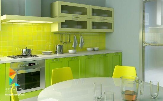 ديكور مطبخ اشكال و الوان مطابخ 2018 2019 Green Kitchen Designs Kitchen Cabinet Design Kitchen Design Color