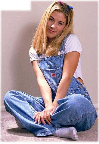 Girl in Denim Overalls