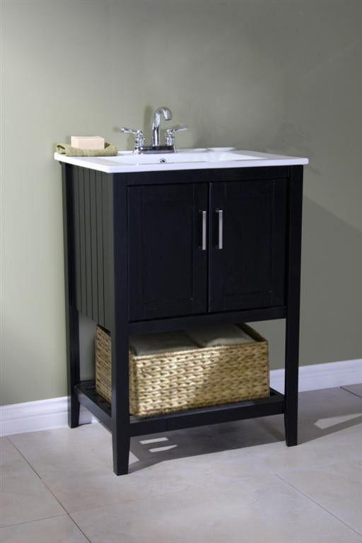 """Oliver 24"""" Single Bathroom Vanity Set with Basket"""