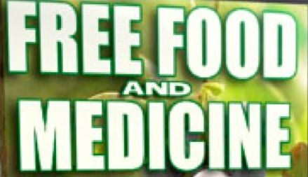 Play Video Free Food and Medicine