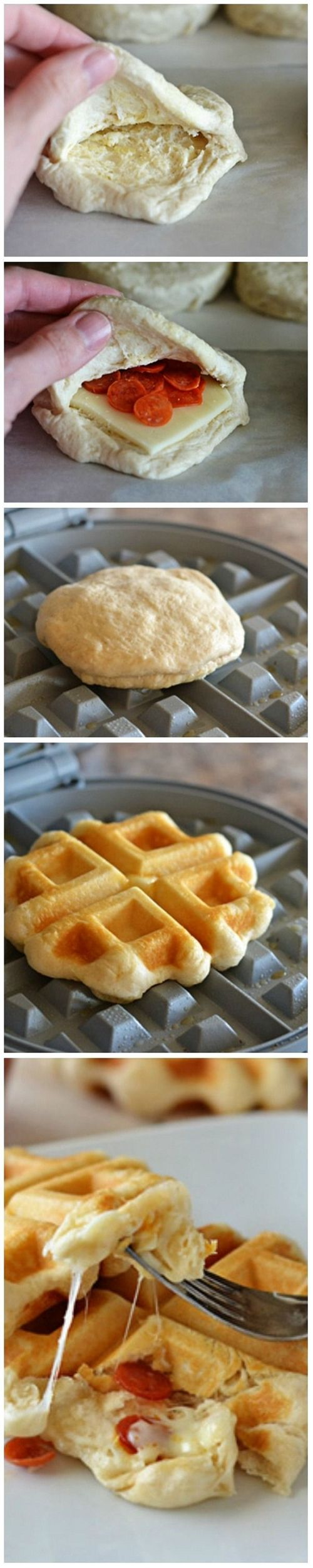 Pizza Waffles * NOTE: Didn't pin it for the recipe, just the general idea :P