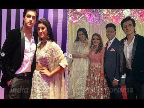 "Shivangi Joshi À¤""र Mohsin Khan Couple Attended Wedding Reception Naira Mohsin Khan Wedding Reception Couples Mohsin khan biography, age, famy & more. shivangi joshi और mohsin khan couple"