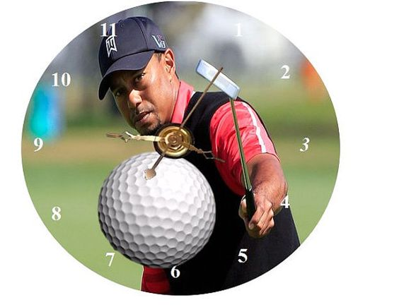 Tiger Woods  CD Clock  Can Personalize Send Pic Great Gift