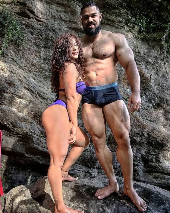 Fitness Models Tejal Kadam and Mohan Vashist Post together of a fitness shoot