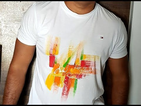 Abstract Painting Cool Art On T Shirt Acrylics Demonstration