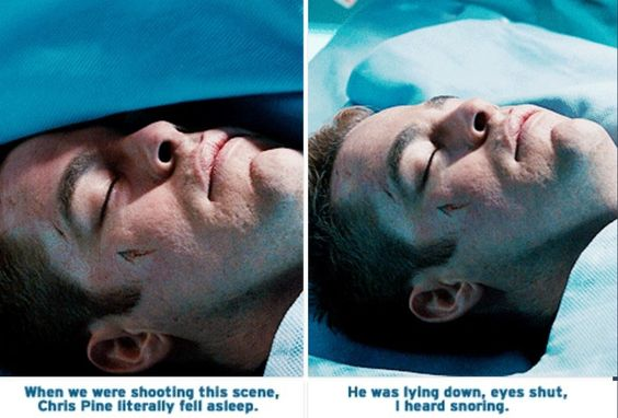 Star Trek. The cut on his face is shaped like the Star Fleet logo