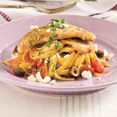 Mediterranean Turkey Cutlets and Pasta - Easy Pasta Dinner Recipes - Southern Living