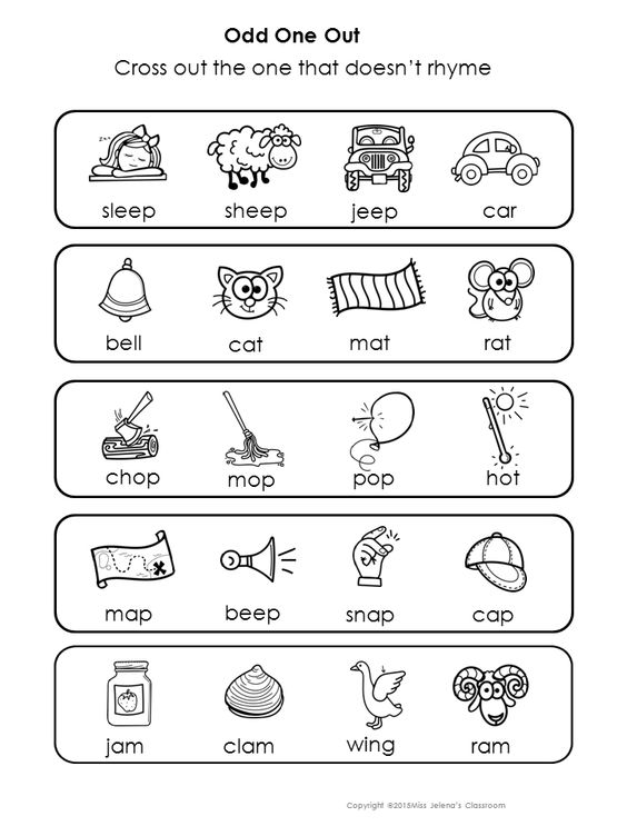 Rhyming Words Odd One Out | Pinterest | Words and Rhyming words