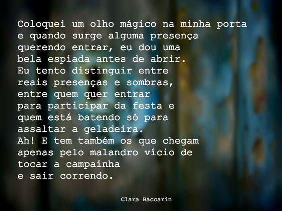 Clara Baccarin #olhomágico