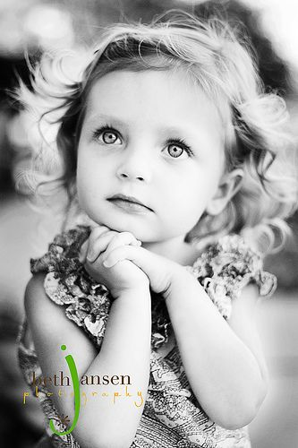 I always shock myself when I choose b&w over color but this one of this little Ms. was just so pretty!