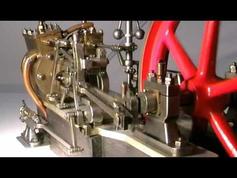 Motore a vapore con distribuzione Walschaert. - YouTube