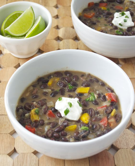 Bean and bacon soup, Bacon soup and Black beans on Pinterest