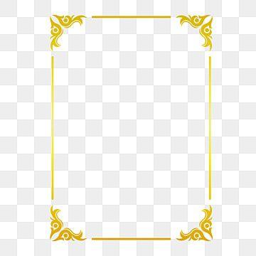 Golden Border Warm Color Border Frame Picture Frame Gold Rectangle Clipart Hot Stamping Style Bronzing Border Png And Vector With Transparent Background For Frame Border Design Graphic Design Background Templates