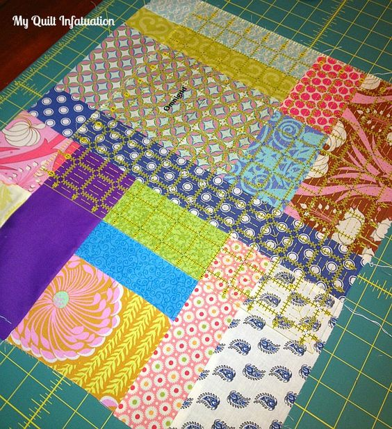 My Quilt Infatuation: Calling All Scrap Lovers! An Improv Piecing Tutorial