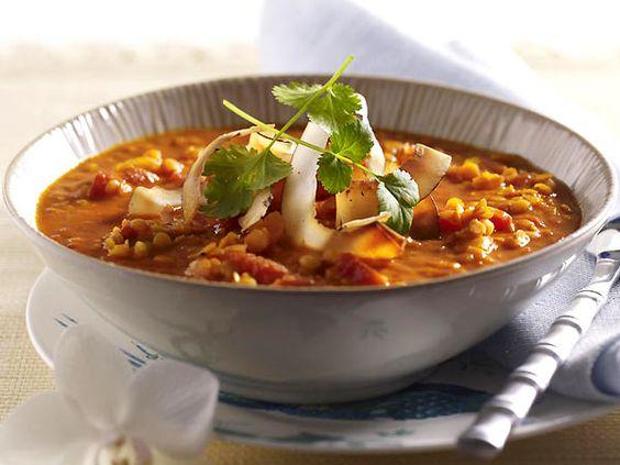 Suppen - allerlei Spitzen-Rezepte - linsen-kokos-suppe  Rezept