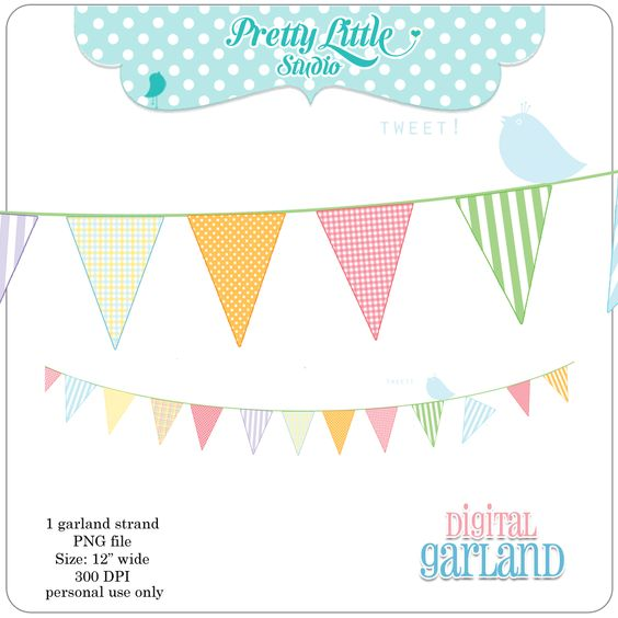 Summer Bunting Garland Free Download Printable