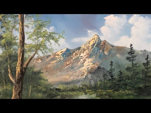 Oil Painting A Landscape Unedited Paintings By Justin Youtube Landscape Oil Painting Landscape Paintings