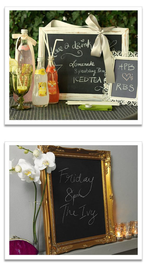 A chic chalkboard is going on the list of things I absolutely need.
