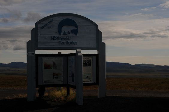 Welcome to the Northwest Territories! Sign on the Dempster Highway. www.northerntime.net