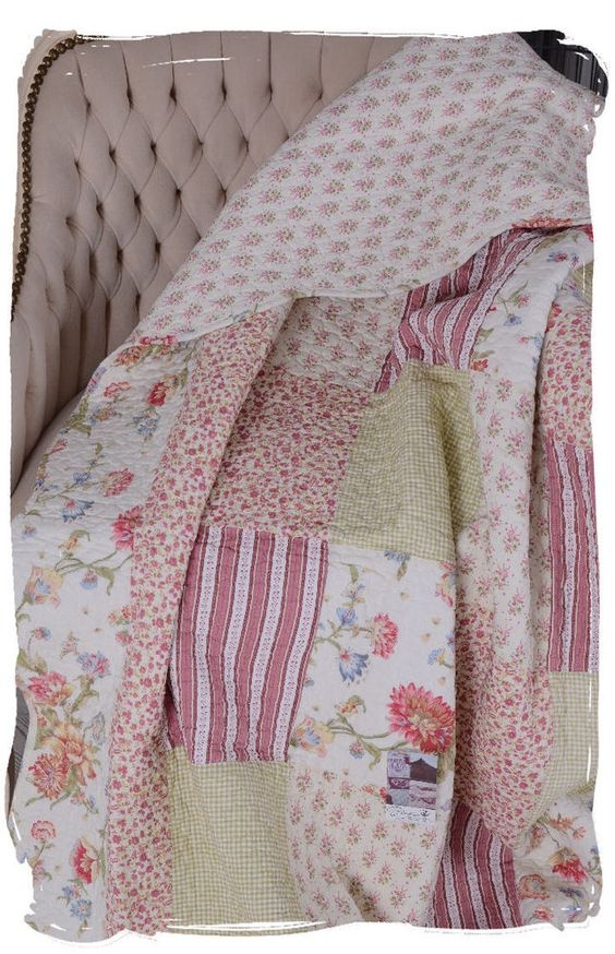 berwurf sofadecke patchwork decke vintage tagesdecke quilt plaid shabby chic tagesdecken. Black Bedroom Furniture Sets. Home Design Ideas