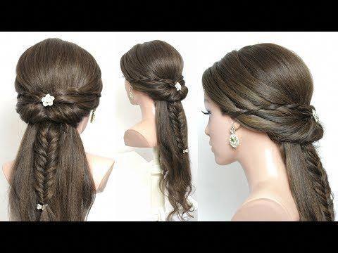 Cute Braided Hairstyle For Long Hair Tutorial Youtube Braidedhairstylesart Cool Braid Hairstyles Hair Styles Hair Tutorial