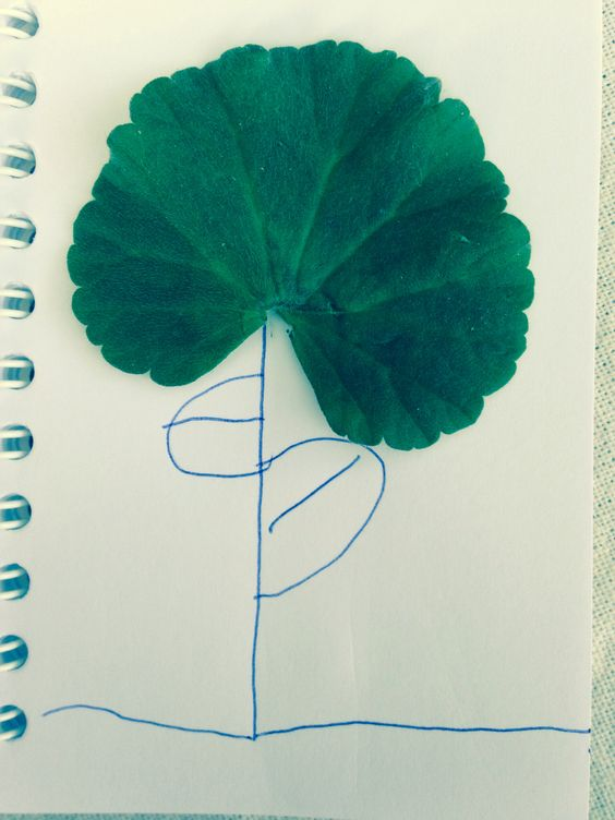 Leaf art geranium flower by Grace x