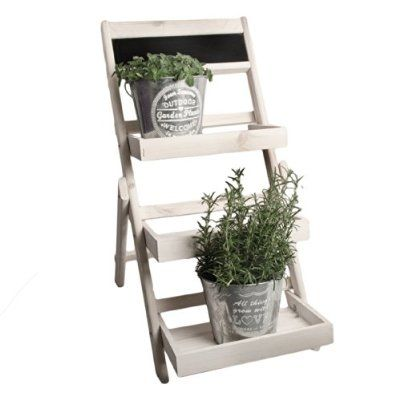 blumenleiter pflanzentreppe blumenregal holz shabby chic. Black Bedroom Furniture Sets. Home Design Ideas
