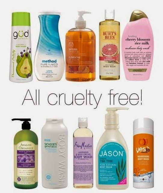CRUELTY FREE Body washes- click for the best cruelty free BRANDS LIST (MAKE UP…