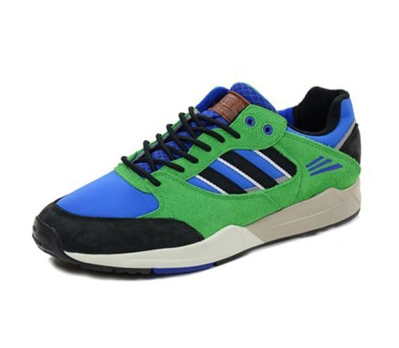 adidas Originals Tech Super – Bluebird / Black – Real Green