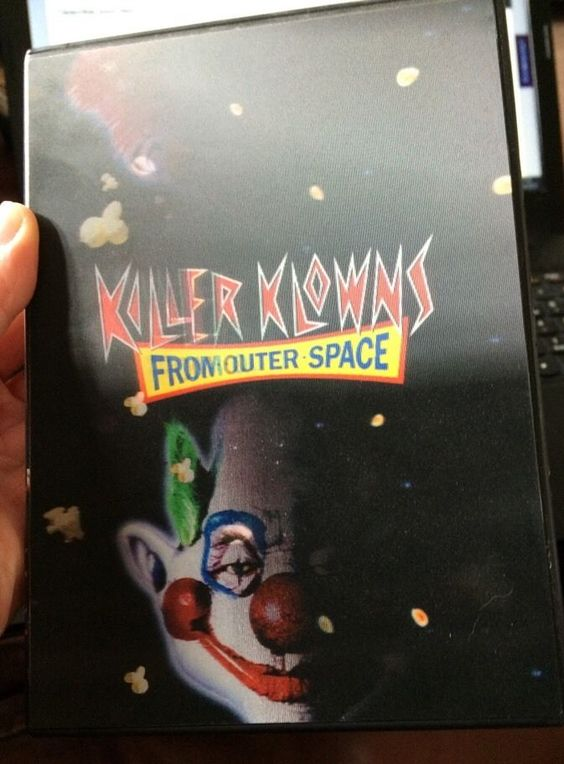 RARE (region 1)Killer Klowns from Outer Space with lenticular 3D EFFECT case DVD