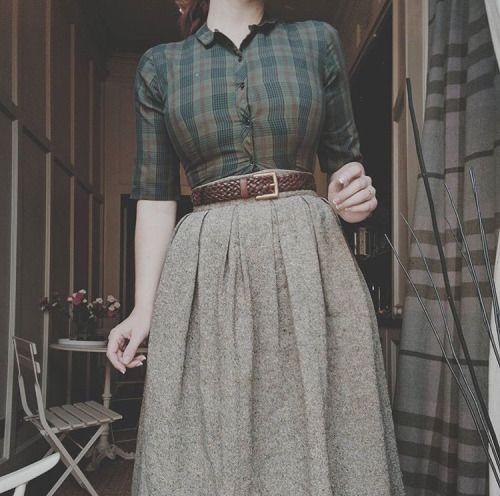 midi vintage skirt