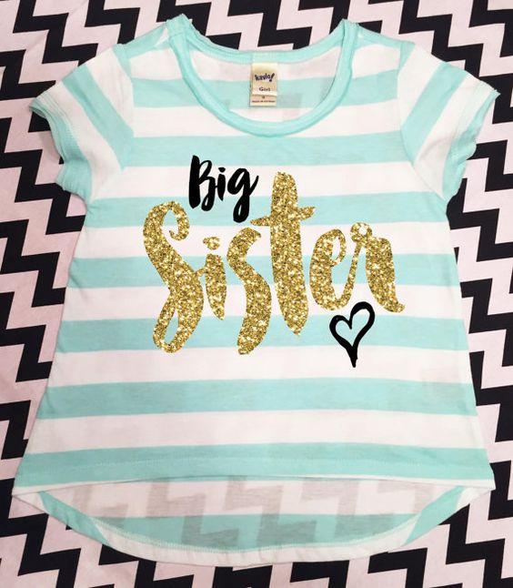 Big Sister Shirt Little Sister Shirt Sibling by TheStickerGarden