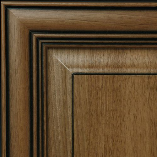 Glazed brown cabinets hazelnut with black glaze kitchen for Black and brown kitchen cabinets