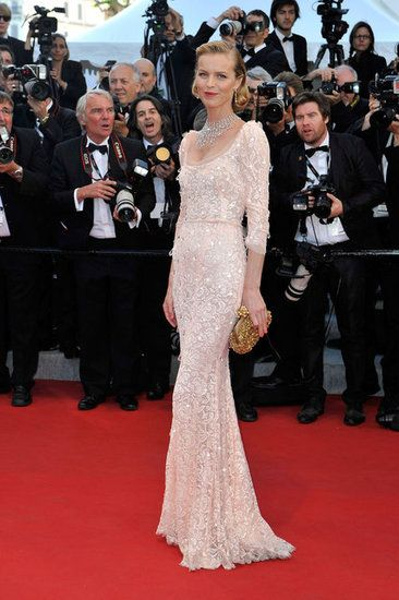 Eva Herzigova wearing Dolce & Gabbana at the opening of the Cannes Film Festival and premiere of Moonrise Kingdom.