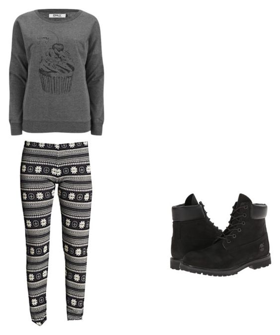 """Untitled #398"" by cuteniki ❤ liked on Polyvore featuring ONLY, Saks Fifth Avenue and Timberland"