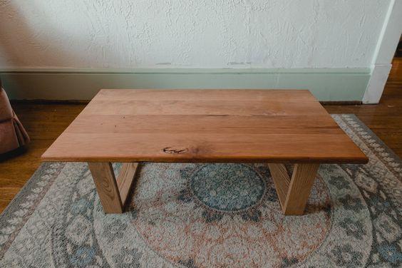 Japanese Low Table Cherry Oak Custom Chabudai Dining Table