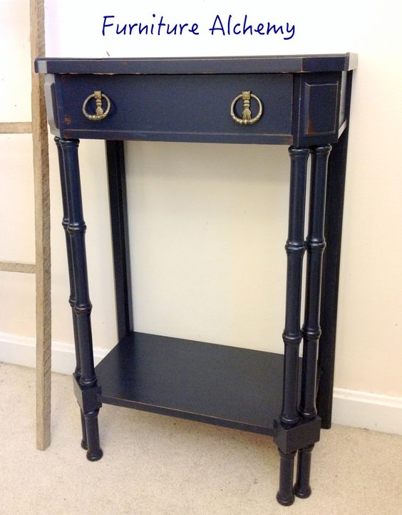 Nightstand painted in general finishes coastal blue and for Navy blue painted furniture