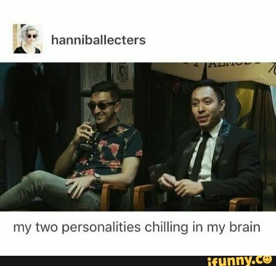 My Two Personalities Chilling In My Brain Ifunny Buzzfeed Funny Bergara Unsolved