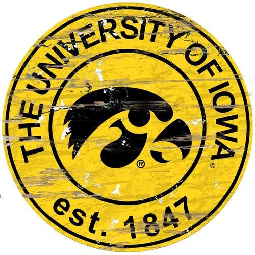 University of Iowa Hawkeyes Round Wall Decor Establish Date Round ...