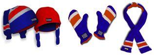 Made from hockey socks.