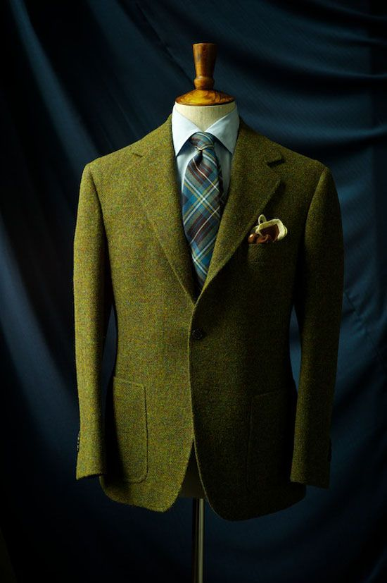 Green Harris Tweed Sport Coat | Sport Coats Blazers and Jackets