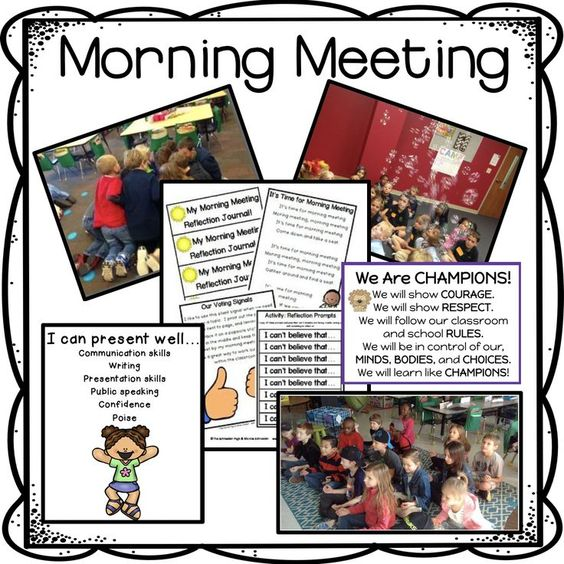 Morning meetings are a great way to start your day!  It is amazing how much learning can happen.