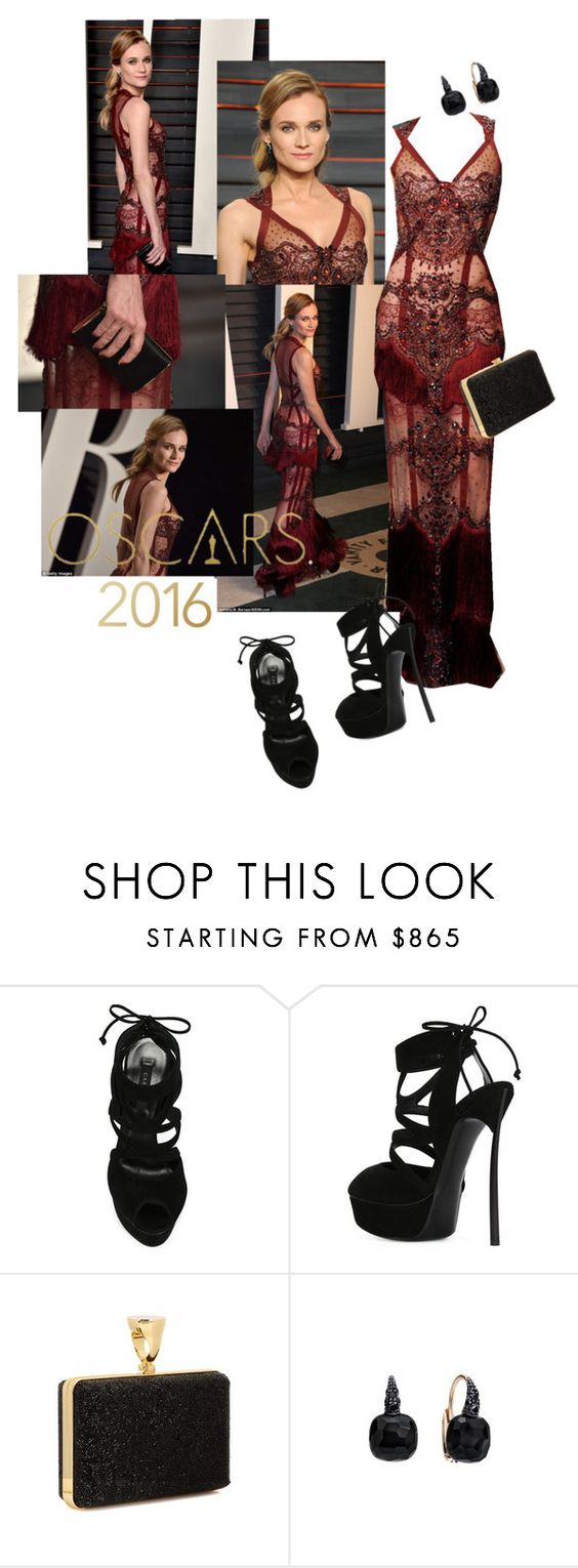 """OSCAR 2016 - Diane Kruger"" by ivyargmagno ❤ liked on Polyvore featuring Casadei, Tom Ford, Pomellato, RedCarpet and oscarfashion"