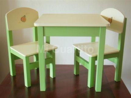Juego de mesa y sillas para ni os decoracion infantil for Mesas y sillas para ninas