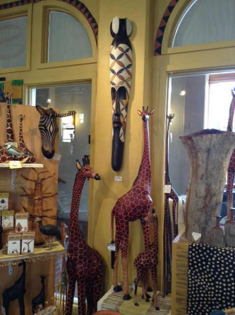 Giraffe Wood Carvings And Fang Mask Fair Trade African Home Decor And Gifts