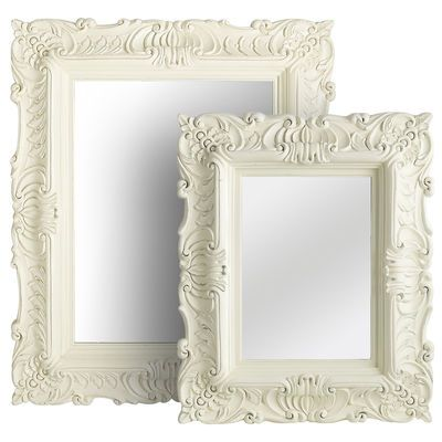 White baroque mirrors my home pinterest baroque for White baroque style mirror