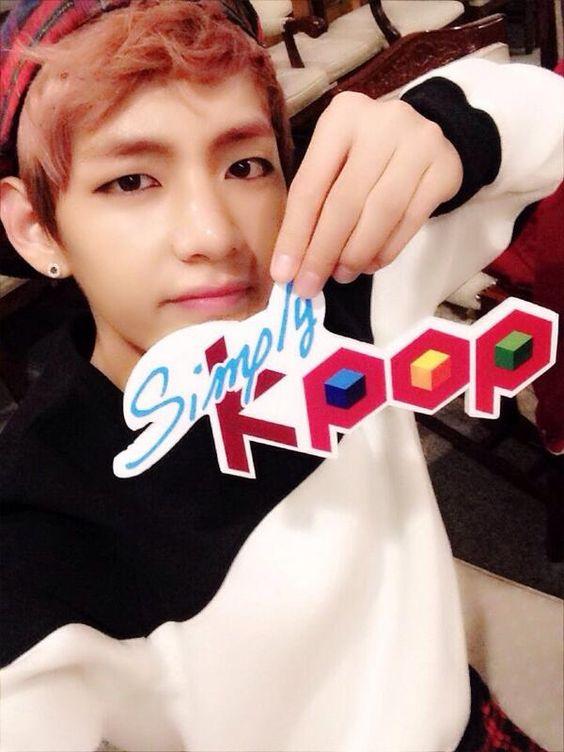 simply kpop uploads selca of taehyung | Taehyung (V ...